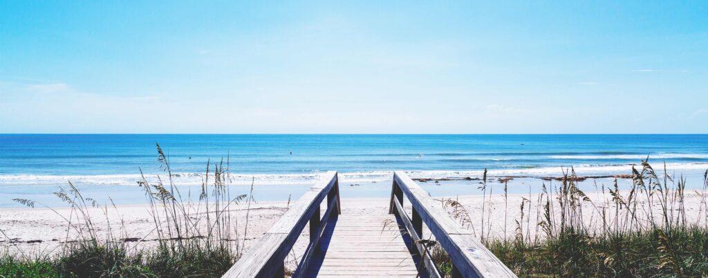 sea meadow beach front walkway